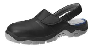 Black Microfibre uppers Safety Clogs with removable insole 2125
