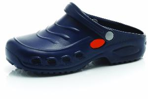 Navy Washable Nursing Clogs Slip Resistant, Anti-static (ZERO GRAVITY)
