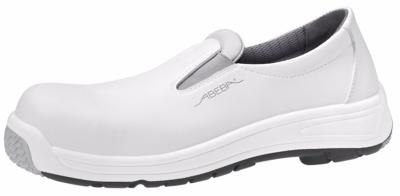 1392 Safety slip on white microfibre uppers acc wave insole