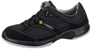 Black Velours with breathable textile inlays ESD trainers 31721