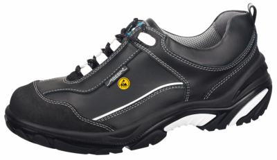34574 ESD Crawler Safety Trainers black smooth leather uppers
