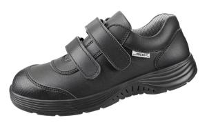 Black Micorfibre trainer Two Fastening Straps breathable lining 711146