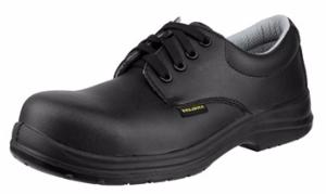 FS662 Black Microtech safety lace up nursing shoes