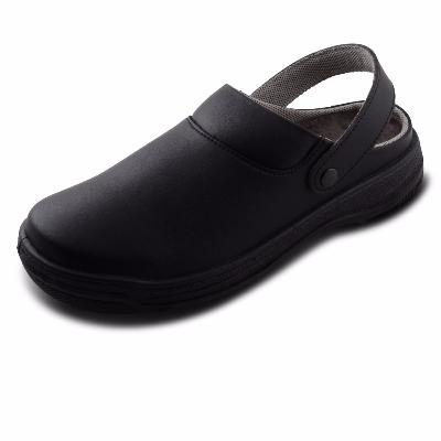 Black mirofibre washable nursing safety clogs anti slip NIZZA S N