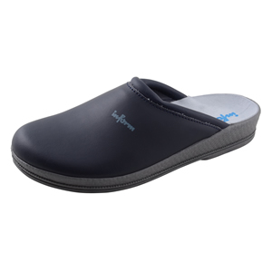 0012 Inform Nursing clogs Navy leather deluxe leather